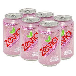 Zevia Nat Straw Soda (4x6Pack )