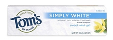 Tom's Of Maine Simply White Toothpaste7 Ounce (6x4.7Oz)
