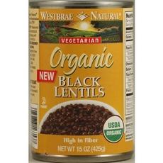 Westbrae Foods Black Lentils 1 (12x15Oz)