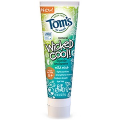 Tom's Of Maine Wicked Cool Mild Mint Kid's Toothpaste with Flouride (6x4.2 Oz)