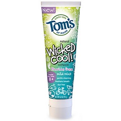 Tom's Of Maine Wicked Cool Mild Mint Kid's Toothpaste Flouride Free(6x4.2 Oz)
