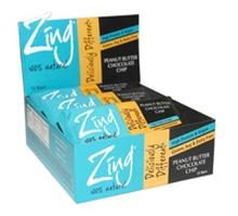 Zing Bars Peanut Butter Choc Chip Bars (12x1.76Oz)